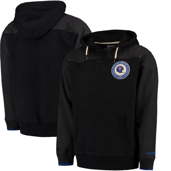 Denver Broncos Mitchell & Ness Play By Play Pullover Hoodie - Black - $124.99