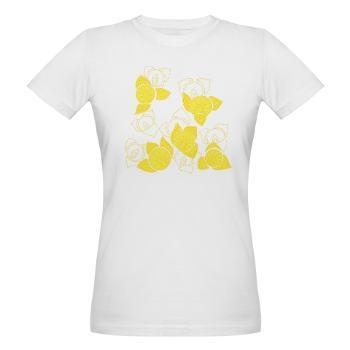 Yellow Flower Organic Women's T-Shirt By Elisa Viotto Arte
