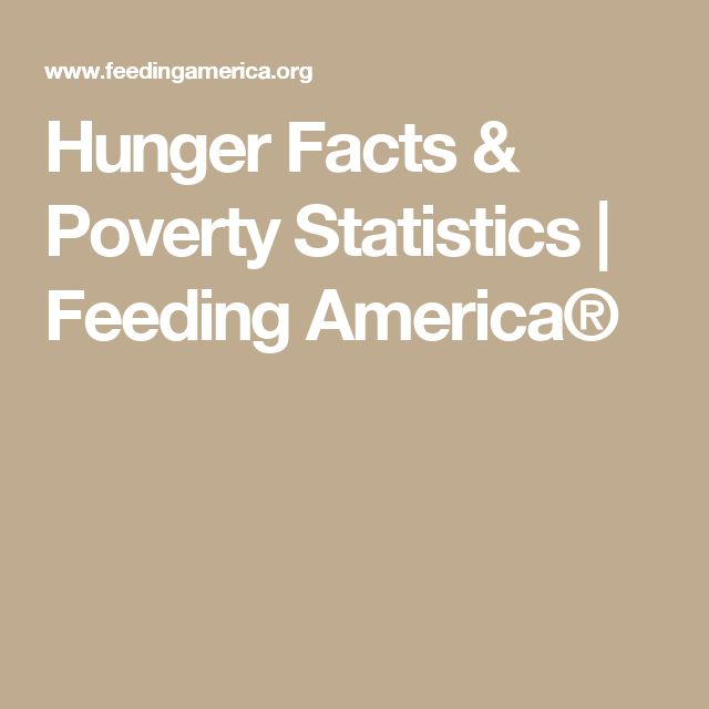 Hunger Facts & Poverty Statistics | Feeding America®