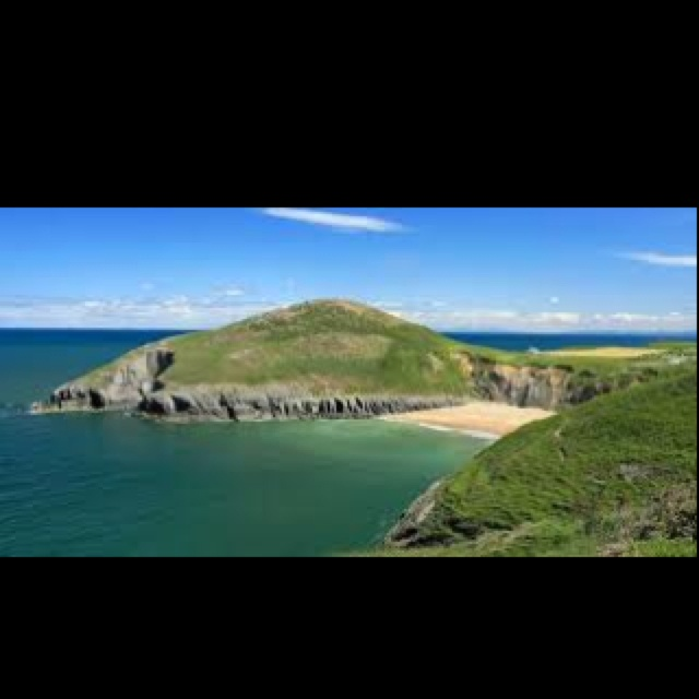 Mwnt beach in Pembrokeshire