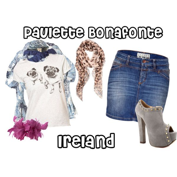 Paulette Bonafonte: Ireland by camposj on Polyvore featuring NW3, Tao Comme Des Garçons, Closed, Luichiny, Alexander McQueen, Linea and legally blonde