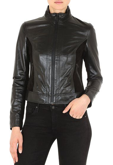 The Carli Jacket in True Black | Visit http://sweeps.piqora.com/AGHoliday14 to learn how to win a $500 AG gift card. This Sweepstakes starts at 5:00 am PST on November 17, 2014 and ends at 11:59 pm PST on December 5, 2014