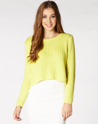 Cropped Knit Jumper WAS $49.99 NOW $39.99 http://richgurl.com/linkout/1334371