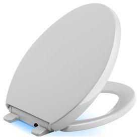 kohler reveal ice grey plastic elongated slowclose toilet seat