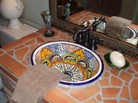 Gather ideas and info for Mediterranean-style bathroom design, and get ready to install a refreshing, bright and lively bathroom style in your home.