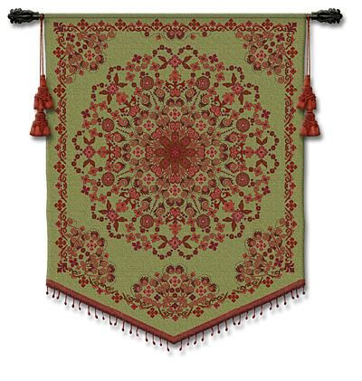 Indian Tapestry Asian Tapestry Wall Hanging - Indian Inspired Collage, 42in X 53in