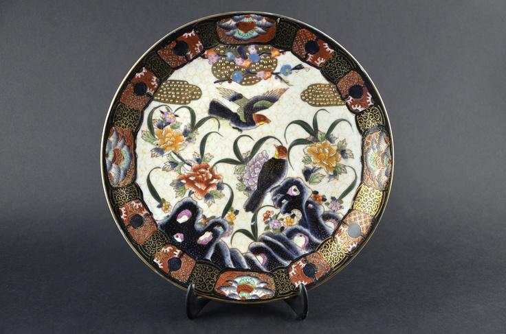 VISIT US! Japanese Satsuma Pottery Fine China Dinner Plate Birds Made in Japan #satsuma #japanesefinechina #satsumapottery