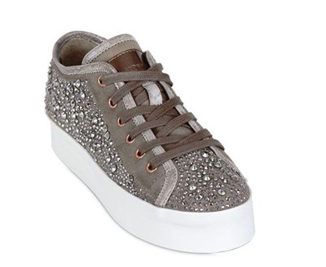 ALEXANDER SMITH 40MM SUEDE SWAROVSKI SNEAKERS | $400 BUY ➜ https://shoespost.com/alexander-smith-40mm-suede-swarovski-sneakers/