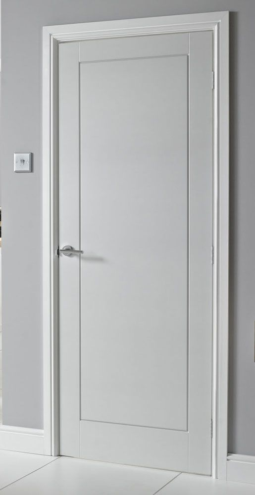 Flush panelled door 01