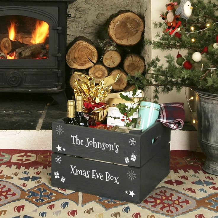 127 best Christmas Crates images on Pinterest  Crates Boxes and