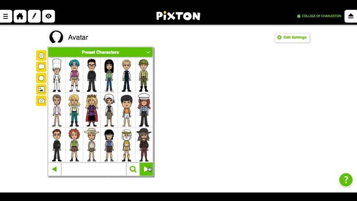 Create an Avatar on Pixton