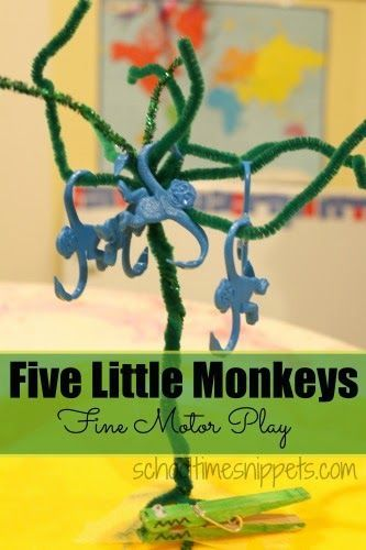 Editable Five Little Monkeys Jumping on the Bed Word Cards