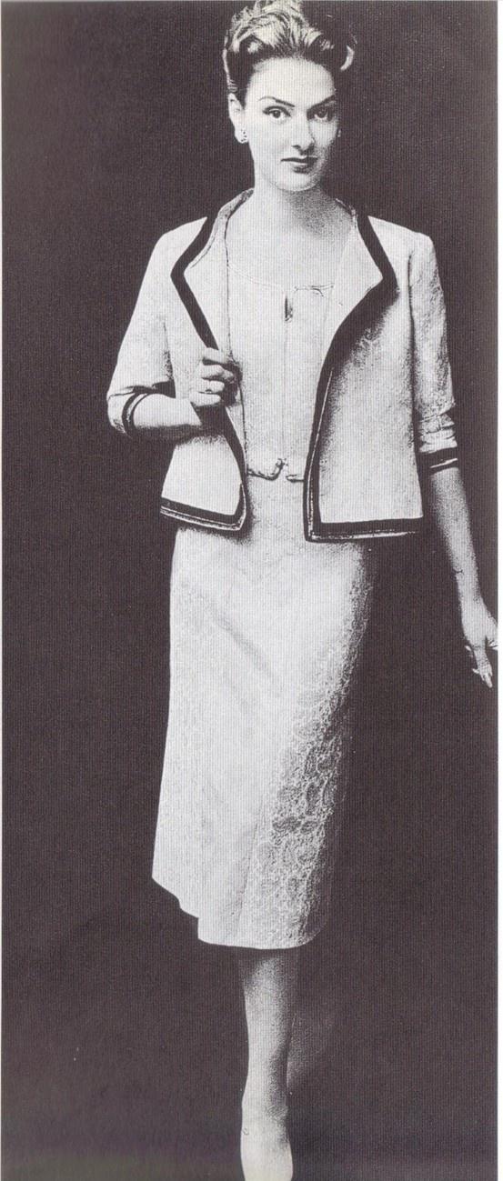 1957 - Chanel suit by G.Saad 4 l'ArtetlaMode