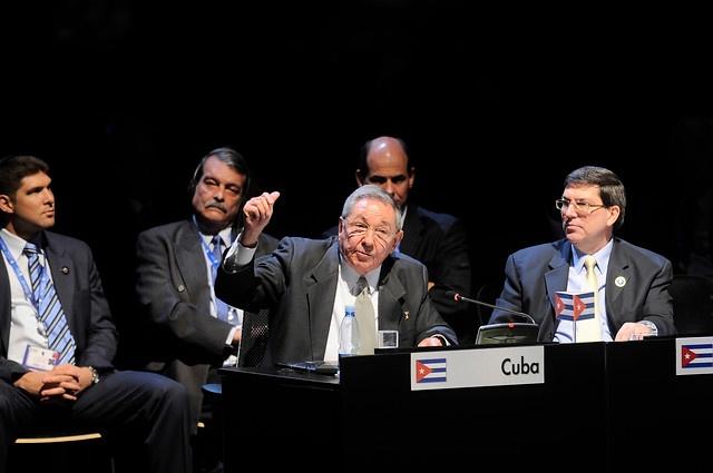 28 de ENERO de 2013/SANTIAGO, CHILE.   Sesión Plenaria de la Cumbre CELAC en el Salón Pablo Neruda, en el Centro de Convenciones Espacio Riesco. En la foto: El Presidente de Cuba, Raúl Castro.   FOTO: PABLO OVALLE/AGENCIAUNO/PRENSACUMBRE