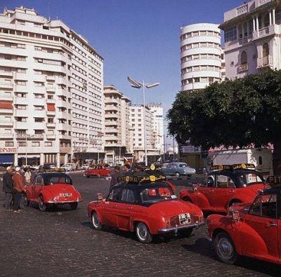 Taxis rouges à Casablanca 1963 #Casablanca #Maroc #Morocco #Moroccan #History