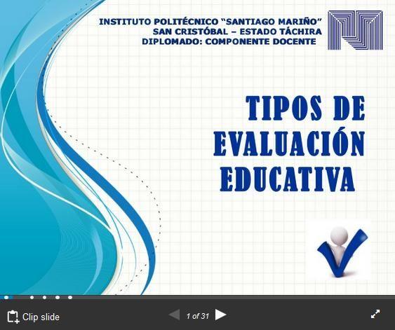 Tipos de Evaluación Clasificados por Finalidad y Momentos | #Presentación #Educación