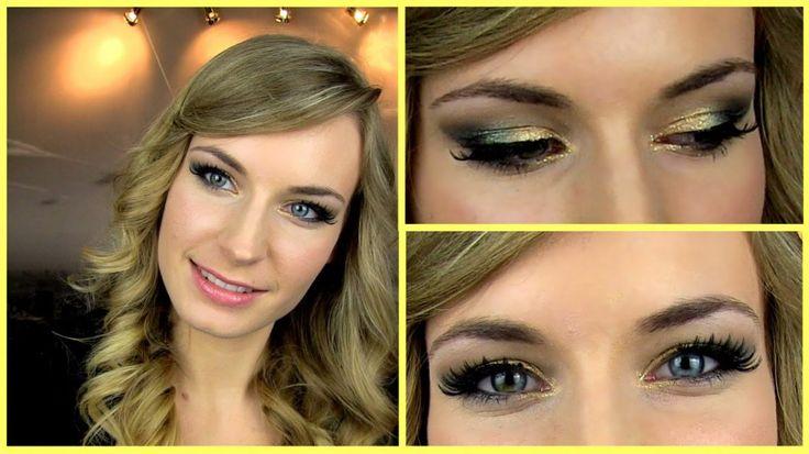 Prom Makeup Tutorial! Gold Green Smokey Eye  Glitter. Party Makeup. #makeup #makeuptest #makeupartist #makeupaddict #makeuplover #makeupjunkie #wakeupandmakeup #makeupforever #makeuptutorial #beautyblog #hudabeauty #naturalbeauty #beauty #beautyhacks #mua #cosmetics #skincare