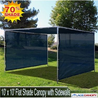 10u0027 x 10u0027 Flat Shade Canopy with Sidewalls The 10x10 Flat Shade Canopy with Sidewalls features a flat roof mesh top and two (2) mesh sidewalls of the same ... & 9 best Flat Mesh Tarp Shade Canopies images on Pinterest ...