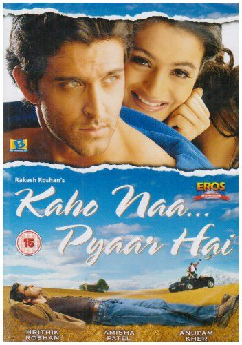 Kaho Naa Pyaar Hai, 2000, Bollywood DVD (With English Subtitles). starring Hrithik Roshan & Amisha Patel, directed by Rakesh Roshan.