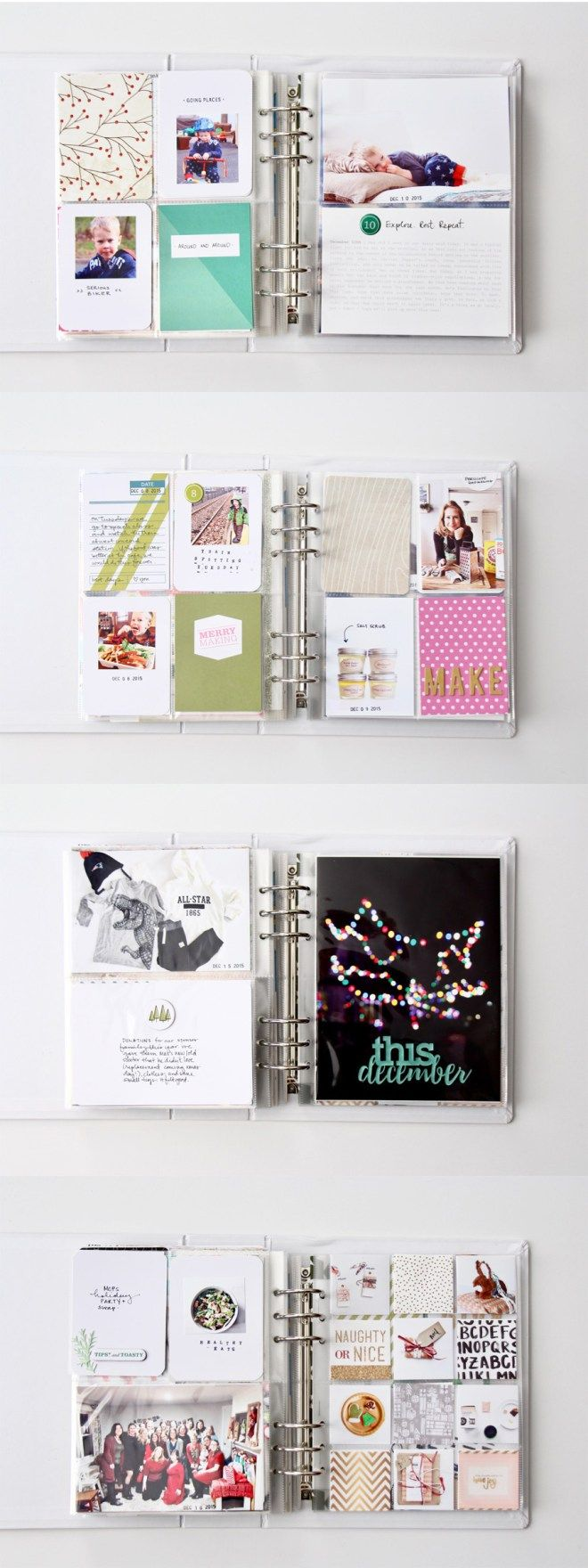 December Daily Album 2015 by Julie Love Gagen using Ali Edwards products