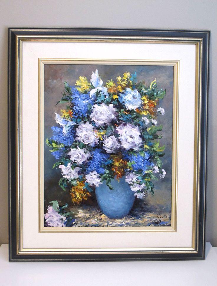 """""""Flowers in Vase"""", by Venie Vabalis; Oil on Board $350 CAD"""