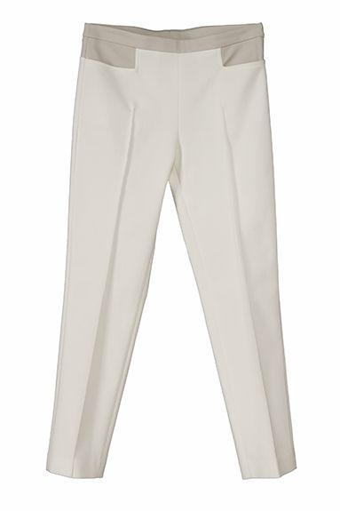 OPALE slim leg pant in high-tech fabric, bicolor (across the universe)