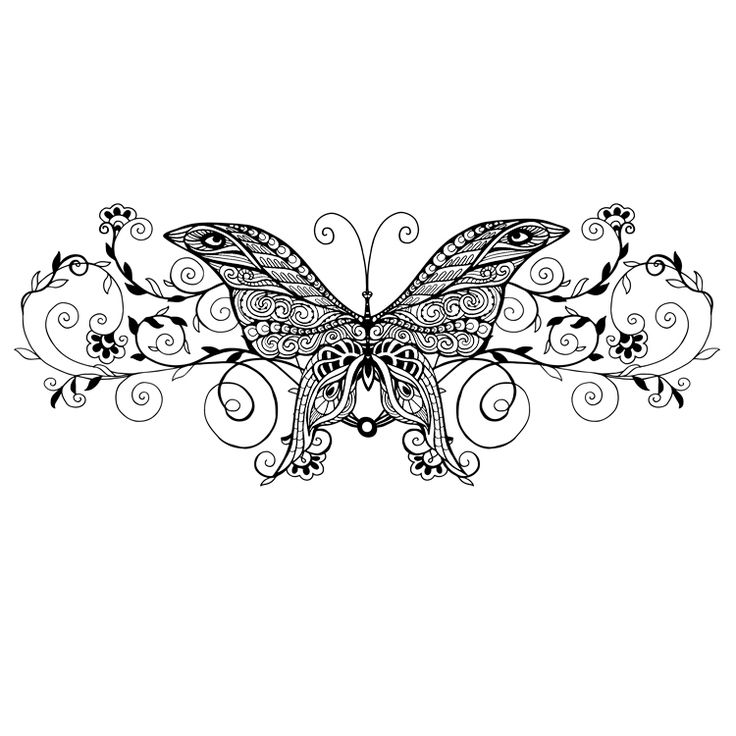 Butterfly Temporary Tattoo #803