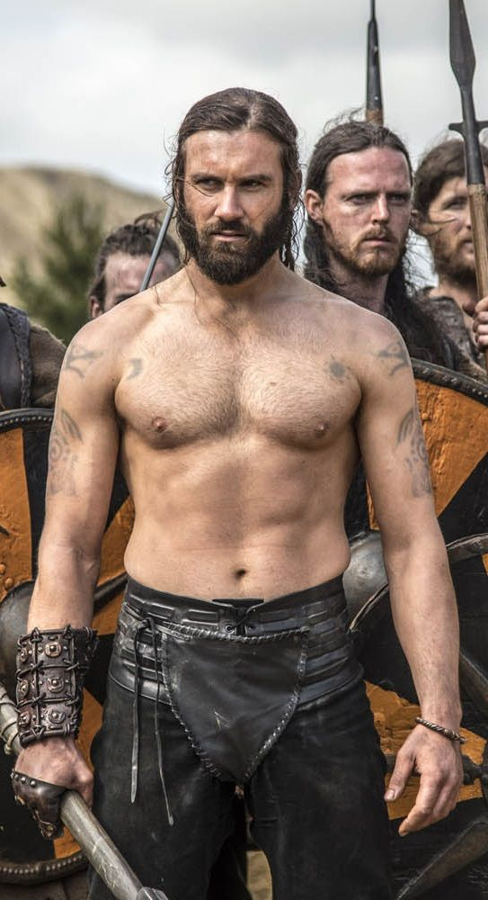 "British actor Clive Standen as bad-boy Viking 'Rollo' in the History Channel's ""Vikings"". Season 2 coming this spring."