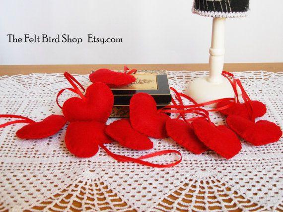 Set di cuori di feltro per San Valentino. Set di TheFeltBirdShop