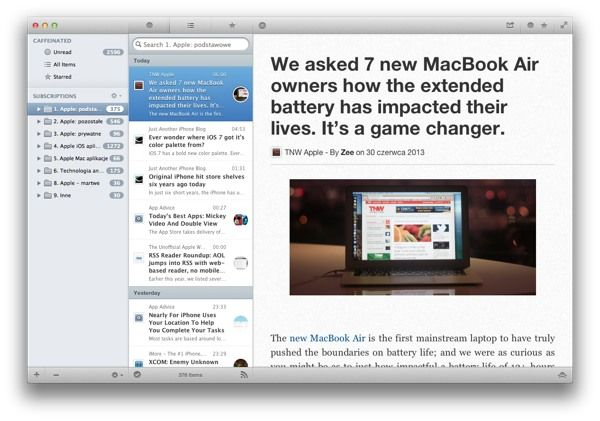 Co po Google Reader? Caffeinated dla Mac http://myap.pl/f6