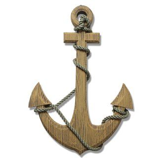 Ornamental Nautical Ship Anchor 24-inch Wood Wall Decoration | Overstock.com Shopping - The Best Deals on Ornaments