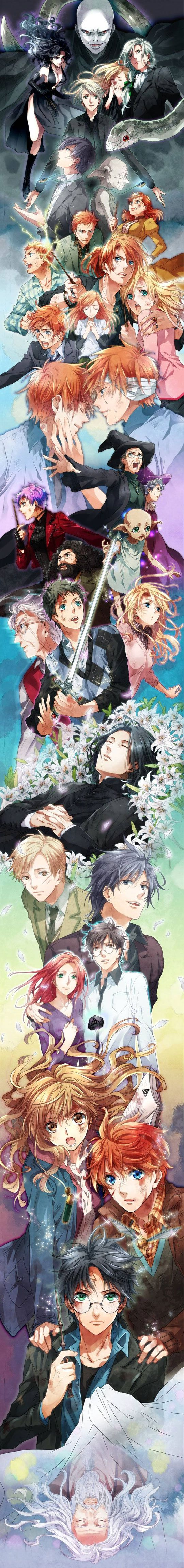 Like it!: Anime Manga, Harrypotter, Anime Style, Art, Book, Harry Potter Anime, Fandom, Anime Harry