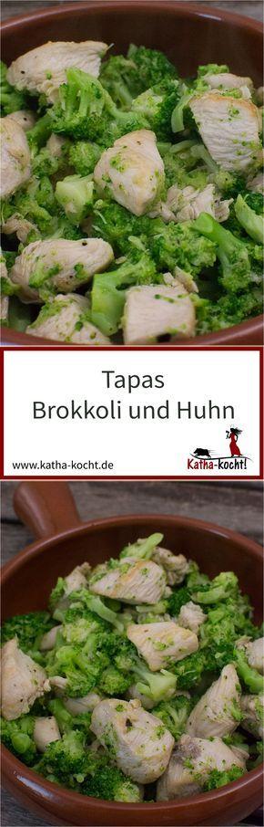 Es gibt viele leckere Rezepte für Tapas mit Huhn - eine besonders leichte Variante ist dieses Huhn mit Brokkoli. Das Rezept gibt es auf katha-kocht!