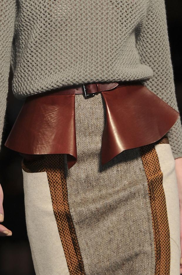 leather peplum belt - looks like it was made for this outfit!