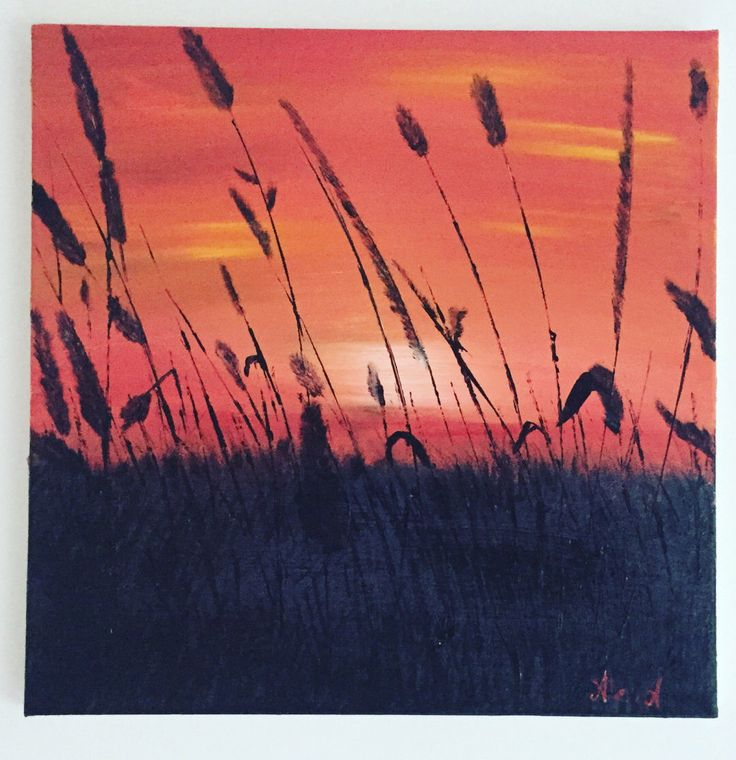 Original Sunset Landscape/Sunset Acrylic Painting /Canvas Painting/ Skyscape by AllexaArt on Etsy https://www.etsy.com/listing/251920955/original-sunset-landscapesunset-acrylic