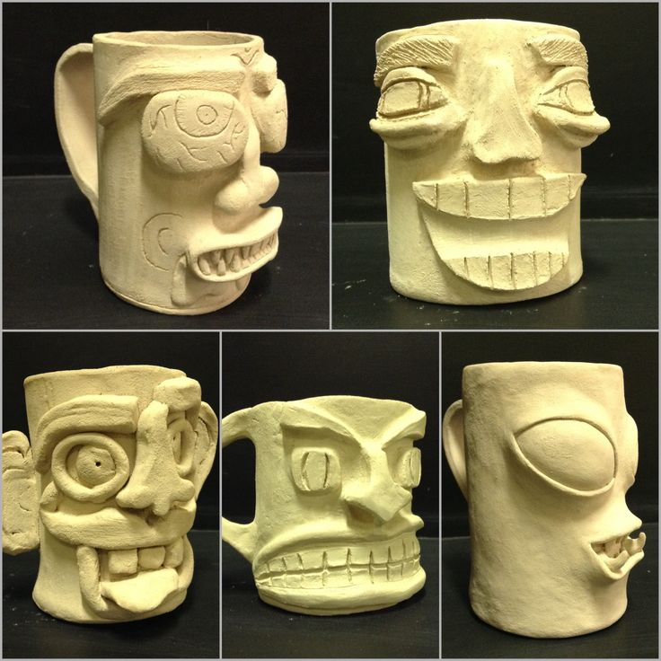 Sculptural Mugs Students Had To Pick An Emotion And