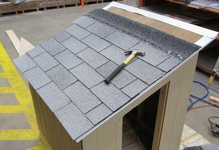 Cut drip edge install shingles - Build Dog House