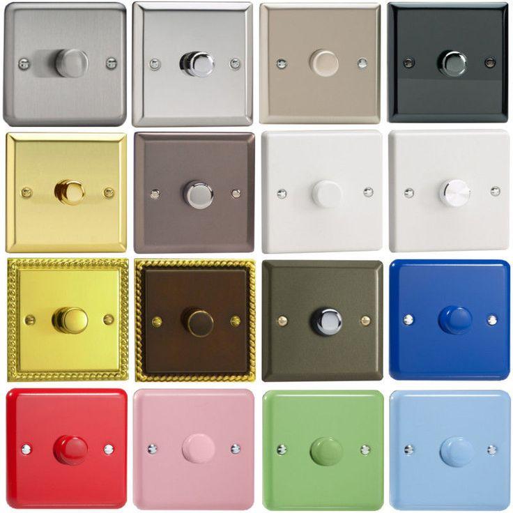 Varilight Decorative Classic Push on/off Rotary V-Pro 120w LED Dimmer Switch