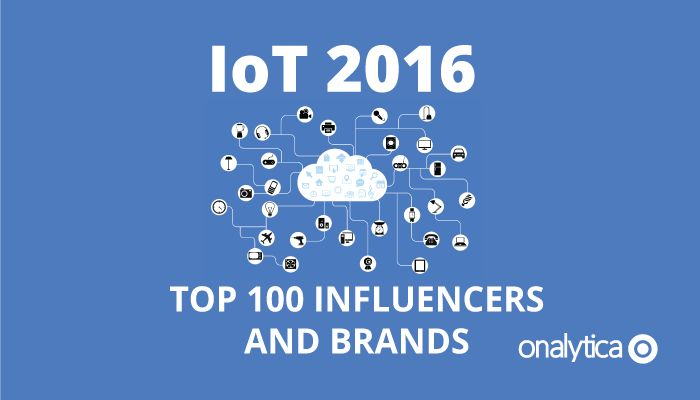 An exhaustive list of the top 100 IoT influencers and brands driving engagement…