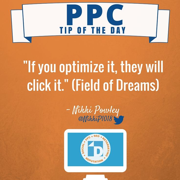 Today's #PPC Tip of the Day from Nikki is inspired by the Field of Dreams.
