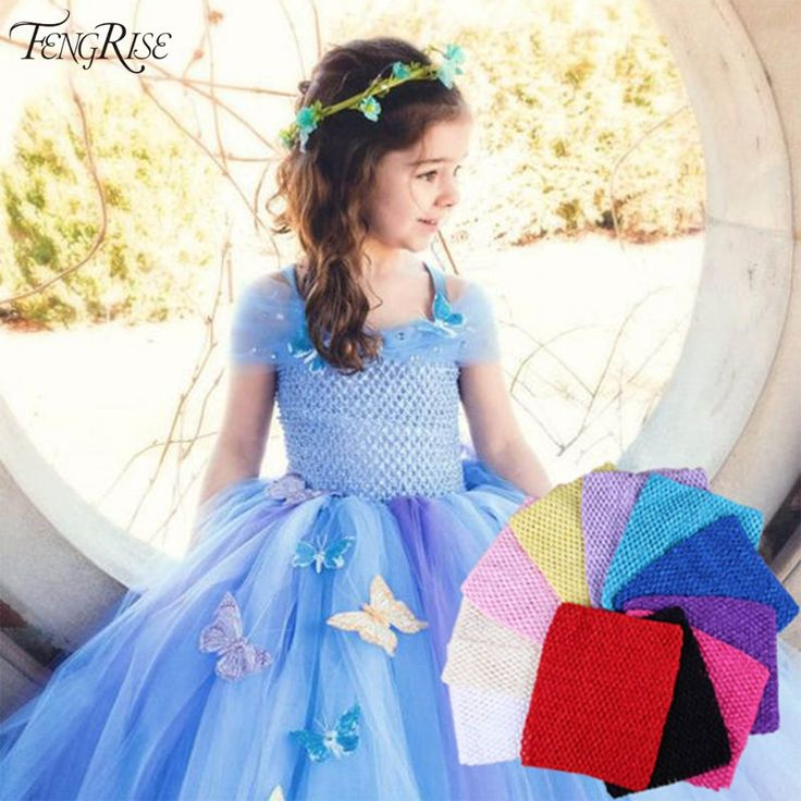 FENGRISE Baby Headband 20X23cm Tulle Spool Tutu Crochet Chest Wrap Tube Tops Apparel Supplies Girl Gifts Sewing Fabric Skirt [Affiliate]