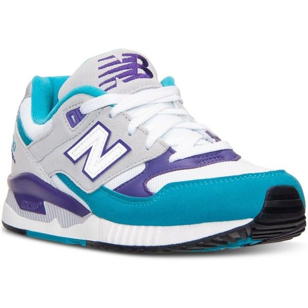 New Balance Women's 530 '90s Remix Casual Sneakers from Finish Line ($80) ❤ liked on Polyvore featuring shoes, sneakers, new balance footwear, lined shoes, new balance shoes, new balance and light weight shoes