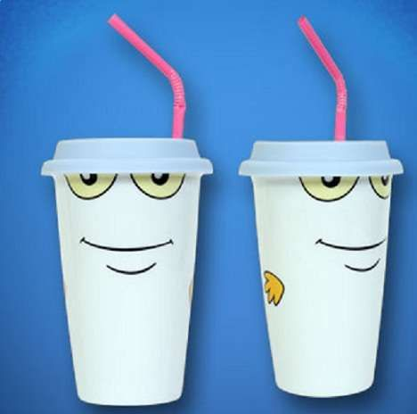 Fans of 'Aqua Teen Hunger Force' Will Love the Master Shake Ceramic Cup -  #kitchen trendhunter.com