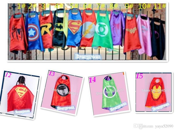 niños capa de Superman traje de los niños de superhéroes del cabo niño para los niños de Halloween trajes del partido hijos capitán de capas y capas calientes del traje