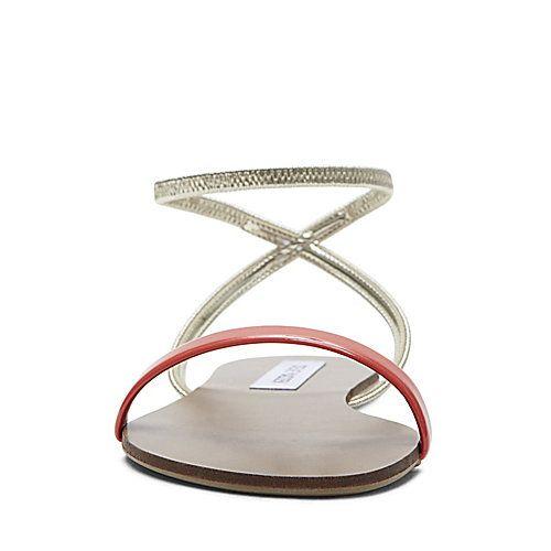 SMARTEE CORAL women's sandal flat ankle strap - Steve Madden
