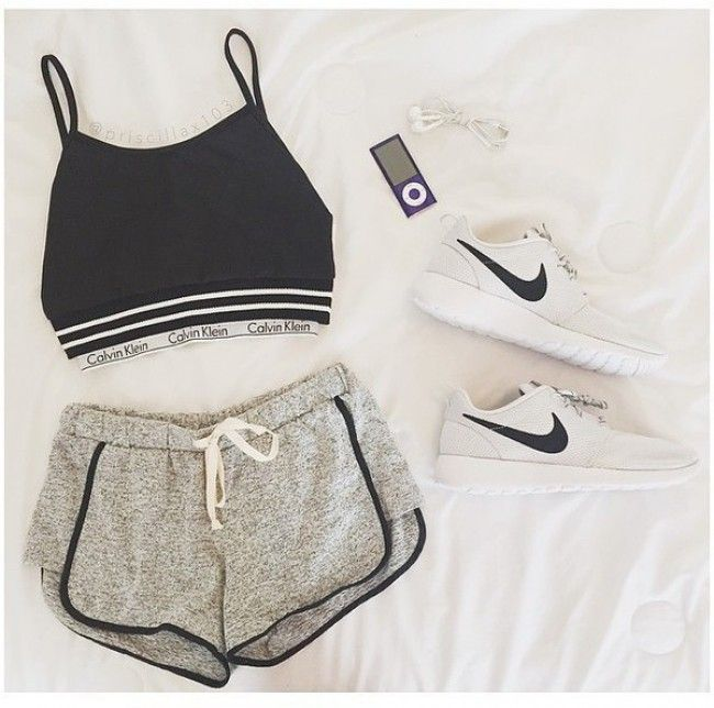 calvin klein sports bra, fashion, nike running shoes, style, nike, calvin klein bra, crop tops, shorts, shoes, rosheruns nike, hat, white, shirt, rosheruns, top