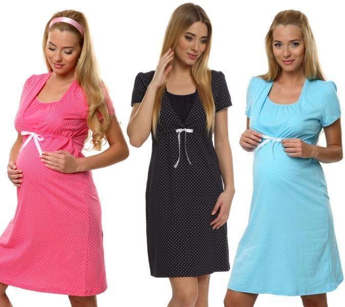 Maternity Pregnancy Breastfeeding Nursing Nightdress UK size 8 10 12 14 16
