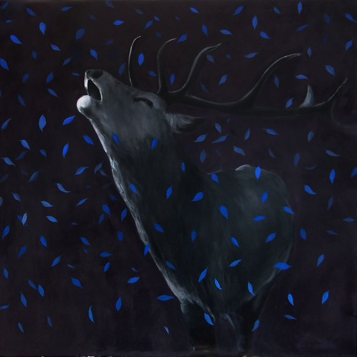 Říje, Oil on canvas, 100x100 cm