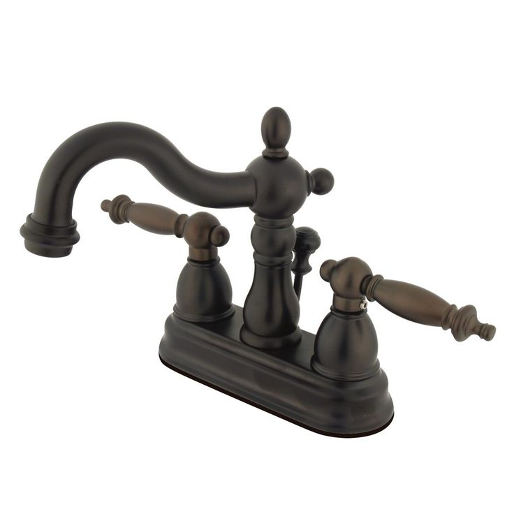 """Kingston Brass  KB1605TL Heritage 4"""" Centerset Lavatory Faucet with Retail Pop-Up,  Oil Rubbed Bronze - Price: $159.95 & FREE Shipping over $99     #kingstonbrass"""