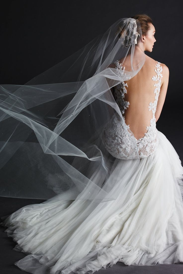 Low Back Wedding Dress With Veil : Best images about the veil on